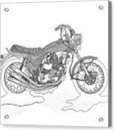 Trickley Triumph X75 Acrylic Print