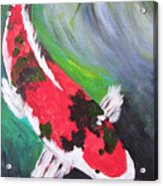 Tricolored Koi Acrylic Print