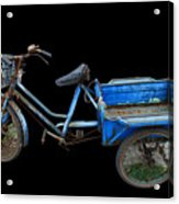 Tricycle In Blue Acrylic Print