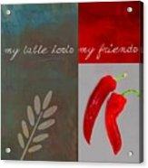 Trilioli Kitchen Decor - Red 153z Acrylic Print