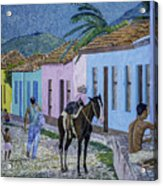 Trinidad Lifestyle 28x22in Oil On Canvas  Acrylic Print