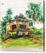 Trinidad Roadside Vendor Acrylic Print