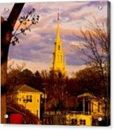 Trinity Church Spring Sunset Acrylic Print