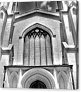 Trinity Episcopal Cathedral Black And White Acrylic Print