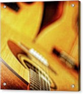 Trio Of Acoustic Guitars Acrylic Print