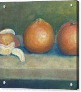 Trio Of Tangerines Acrylic Print