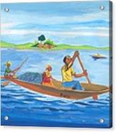 Trip To Lake Kivu In Congo Acrylic Print