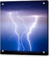 Triple Lightning Acrylic Print by James BO  Insogna