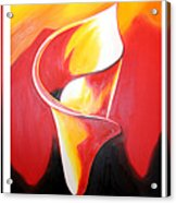 Triple Lily Paintings Acrylic Print