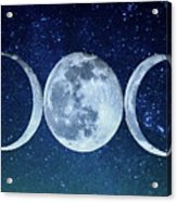 Triple Moon Milkyway Acrylic Print