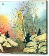 Triptych Panel 3 Acrylic Print