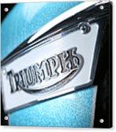 Triumph Badge Acrylic Print