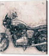 Triumph Bonneville - Standard Motorcycle - 1959 - Motorcycle Poster - Automotive Art Acrylic Print