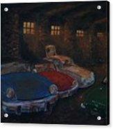 Triumph Garage Acrylic Print