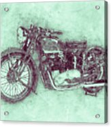 Triumph Speed Twin 3 - 1937 - Vintage Motorcycle Poster - Automotive Art Acrylic Print