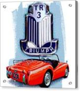 Triumph Tr-3 Red Acrylic Print
