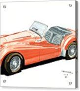 Triumph Tr2 Acrylic Print
