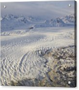 Triumvirate Glacier In Winter Light Acrylic Print
