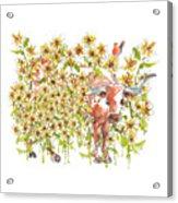 Trivia Too A Texas Longhorn Sunflowers Lh072 Acrylic Print