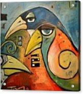 Trois Oiseaux Acrylic Print