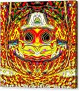 Bizzarre Pumpkin Head Acrylic Print