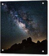 Trona Pinnacles Galactic Core Acrylic Print