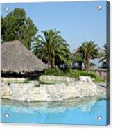 Tropic Bar Vacation Summer Scene Acrylic Print