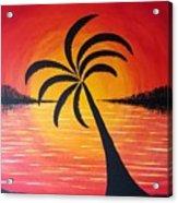 Tropic Of Palms Acrylic Print