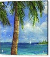 Tropical Beach One Acrylic Print