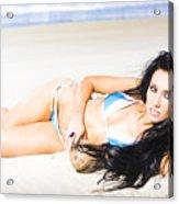 Tropical Beach Woman Acrylic Print