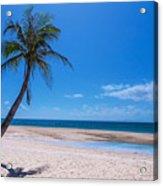 Tropical Blue Skies And White Sand Beaches Acrylic Print