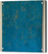 Tropical Palms Canvas Teal Blue - 16x20 Hand Painted Acrylic Print