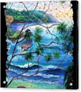 Tropical Cove  Fresco Triptych 2 Acrylic Print