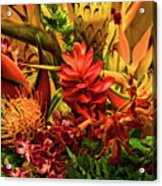 Tropical Flowers Acrylic Print