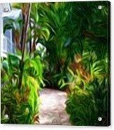 Tropical Garden Passage Acrylic Print