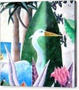 Tropical Goose Acrylic Print
