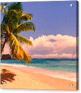 Tropical Island 6 - Painterly Acrylic Print