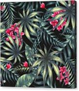 Tropical Leaf Pattern  Acrylic Print