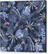 Tropical Leaves Pattern Acrylic Print