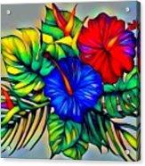 Tropical Neon Boutique  Acrylic Print