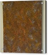 Tropical Palms Canvas Copper Silver Gold - 16x20 Hand Painted Acrylic Print