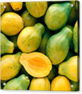 Tropical Papayas Acrylic Print