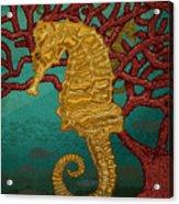 Tropical Seahorses Acrylic Print
