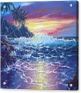 Tropical Seascape Acrylic Print