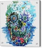 Tropical Skull 2 Acrylic Print