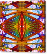 Tropical Stained Glass Acrylic Print