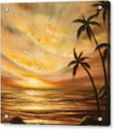 Tropical Sunset 64 Acrylic Print