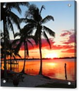 Tropical Sunset Acrylic Print