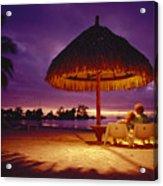 Tropical Tahitian View Acrylic Print