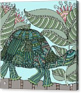 Tropical Turtle Acrylic Print